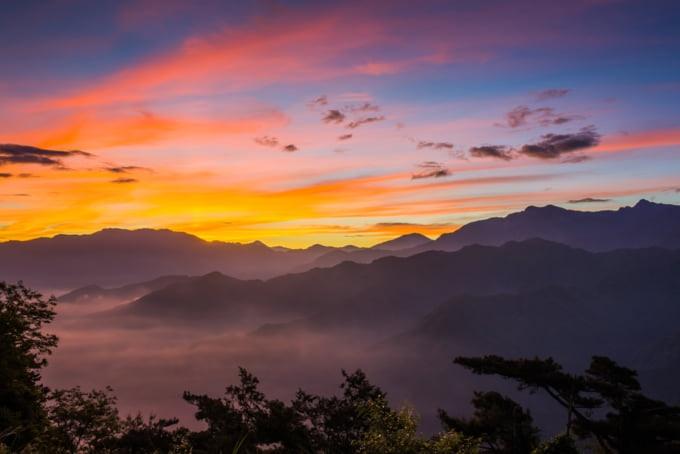 Alishan Sunrise Taiwan