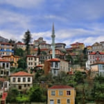 old Trabzon houses Turkey