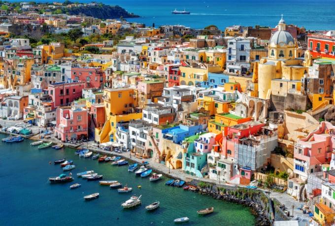 Beautiful view of Procida, Italy