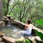 Stunning view of outside hot spring in Taiwan