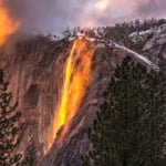 Firefall at Yosemite National Park USA
