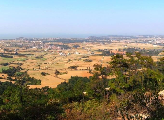 Beautiful view from Mount Taiwu in Kinmen