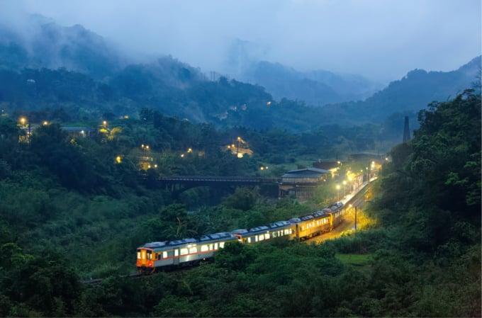 Beautiful railway line in Taiwan