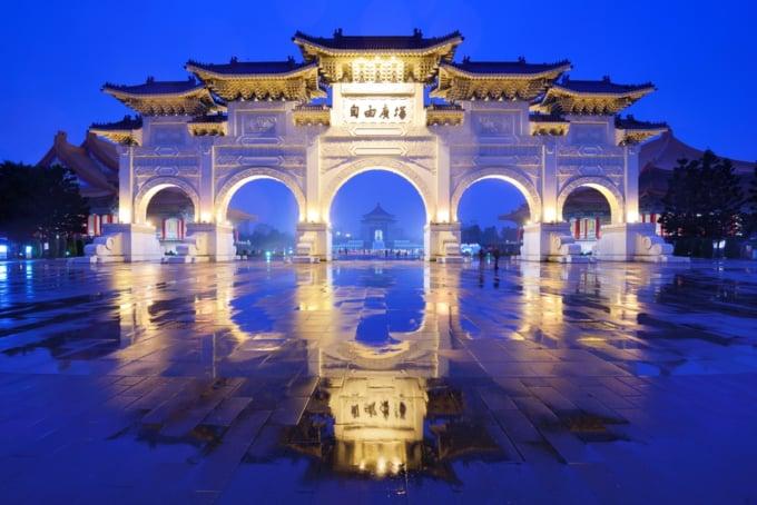 Chang Kai Shek Memorial Hall architecture Taiwan