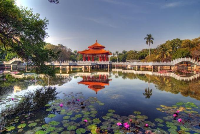 Beautiful Tainan city Taiwan tourism