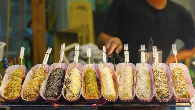 Taiwanese food at night market