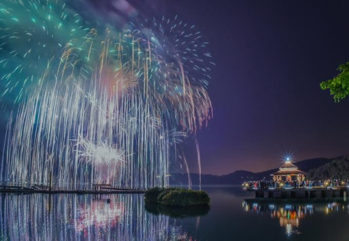 Taiwan new year's eve beautiful fireworks