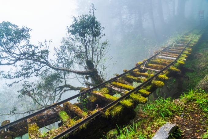 Jianqing Huaigu Hiking Trail famous hiking route in Yilan, Taiwan