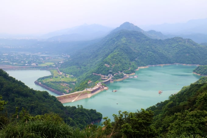 Shihmen Reservoir in Taoyuan Taiwan