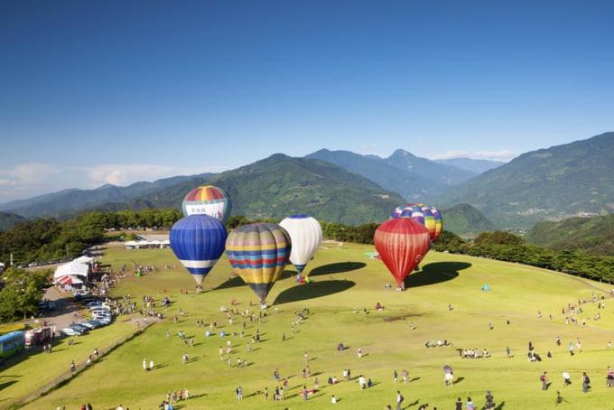 Taiwan Balloon Festival in Taitung