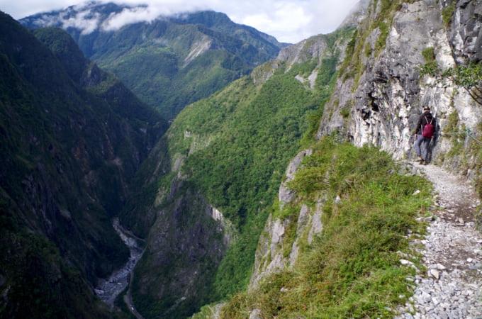 Zhuilu Old Trail hiking in Taroko Gorge National Park Taiwan