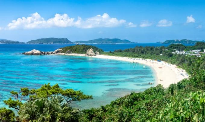 Beautiful scenery of the Kerama Islands, daytrip from Naha in Okinawa